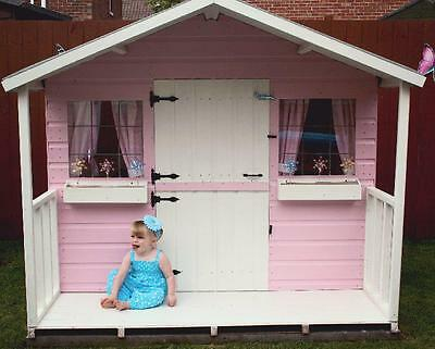 Shedrite's High Quality Wooden 8X6 Playhouse Inc 2Ft Porch