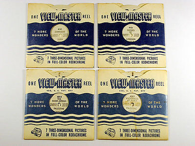 4 x RARE VINTAGE VIEWMASTER REELS / 3D PICTURES / SYRIA LEBANON PALESTINE