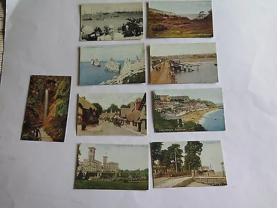 Collection of Nine Vintage Postcards of The Isle Of Wight.