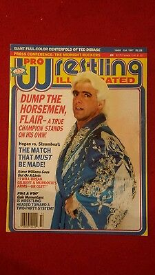 Pwi Wrestling Magazine October 1987 Ric Flair Front Cover.