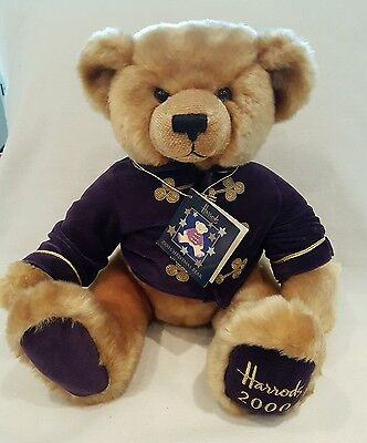 Harrods Teddy Bear new with tags NWT collectors 2000 soft toy plush