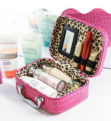 FUCHSIA Small Storage Make-Up Box Cosmetic Vanity Case ideal Valentines Gift