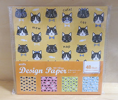 Japanese Origami  Designed Folding Craft Paper Cute Dog and Cat Chiyogami