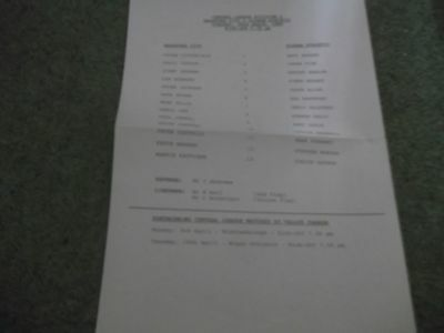 Bradford City V Oldham Athletic Reserves Central League 28Th March 1989 S/s