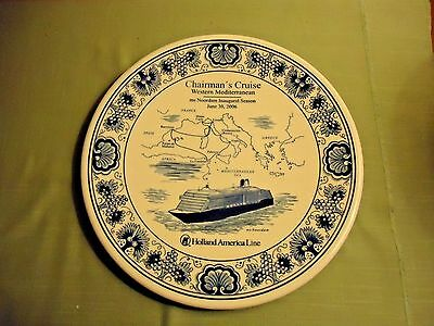 Chairman's Cruise ms Noordam, Holland America Line, Souvenir Plate 06/30/2006