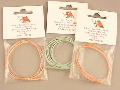 jp slot braids x 2 and wire-oxygen free better conductivity spares