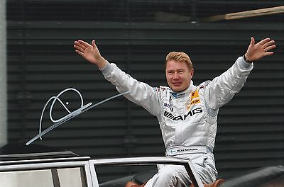 Formula 1 Mika Hakkinen Original Hand Signed Photo 12x8 With COA
