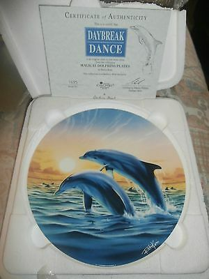 Danbury Mint Magical Dolphin Plate  Daybreak Dance   New In Box With Cert