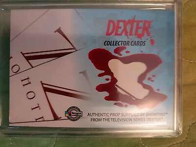 "Dexter  collector cards :SDCC ""Z"" Hotel key card found only in the SDCC box sets"