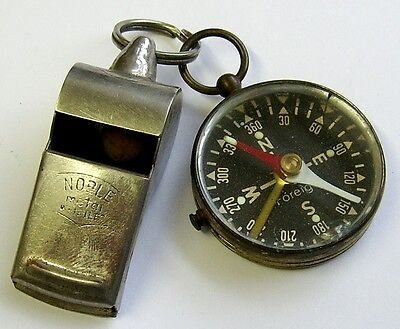 Vintage Compass and Whistle Together.Both in Working Order.