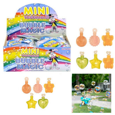 Mini Touchable Magic Bubbles Kids Birthday Party Bag Fillers Goody Favours NEW