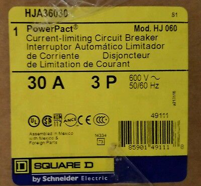 Square D Hja36030 30 Amp 3Ph Powerpact Circuit Breaker****new****