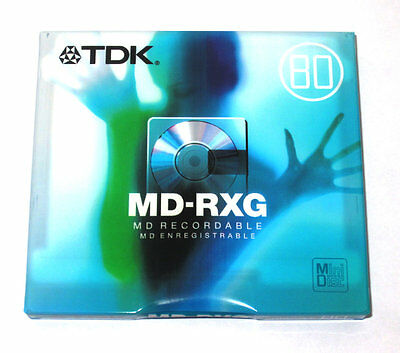One (1) Minidisc TDK MD-RXG 80 '2005 (new and sealed)