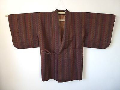 Authentic brown dochugi jacket for kimono, for women, Japan import (K845)
