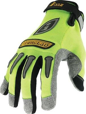 Ironclad Safety Reflective Utility Gloves Neon Grip Padded Palm Mens Small