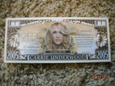 CARRIE UNDERWOOD(care bear)Collectable Dollar Bill(Jesus Take the Wheel)