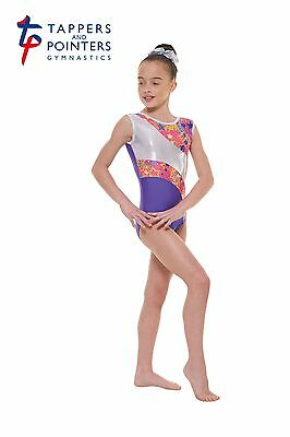 Gymnastic & Dance Wear Leotard Tappers & Pointers Gym 39 Purple Size 2 9/10 Yrs