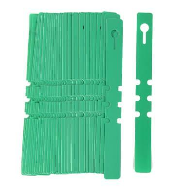 100pcs PVC 7.9'' Plant Seed Labels Nursery Garden Stake Pot Markers Green