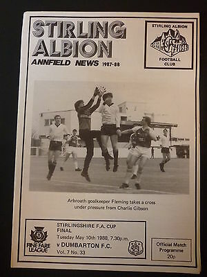 Stirling Albion V Dumbarton Stirlingshire Cup Final 10/5/1988