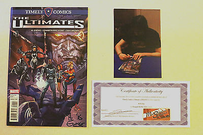 Timely Comics Edition: The Ultimates 1 Signed Al Ewing Marvel Comics NM
