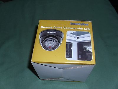 SecurityMan DUMMY DOME Security Camera with LED  NIB