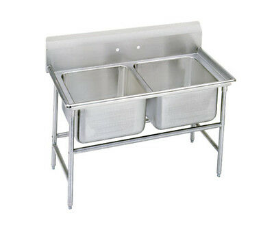 "Advance Tabco 9-22-40 Regaline 2-Compartment Stainless Steel Sink-20""x20"" Bowls"