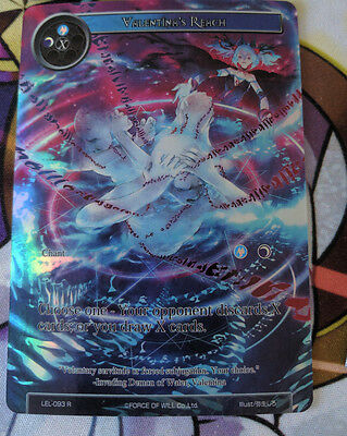 Valentina's Reach | LEL-093 R | NM Full Art | Force of Will