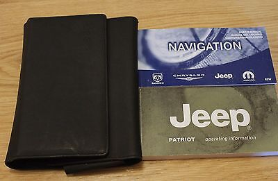 Jeep Patriot Handbook Owners Manual Wallet Navigation Serv Book 2007-2010 T1627