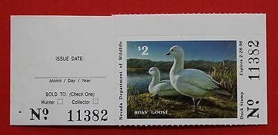 CLEARANCE: (NV11h) 1989 Nevada State Duck Stamp with tab
