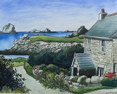 Cecil Riley - Cottage, Bryher, 1994 Mixed Media