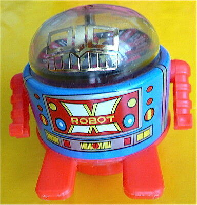 Roulette Robot tin wind-up toy Japan friction made in Japan by S gambling works