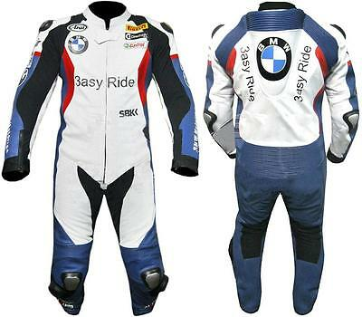 BMW 1/2 Piece Motorbike/Motorcycle Cowhide Leather Motorrad Suit Biker(Replica)