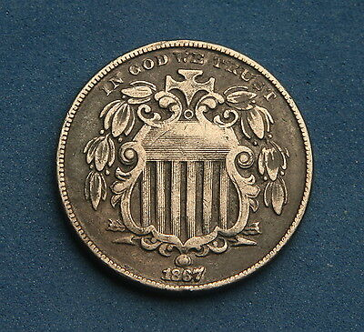 United States 5 Cents 1867 Shield Nickel