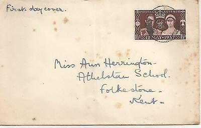 King George Vi 1937 Coronation First Day Cover Ref 363