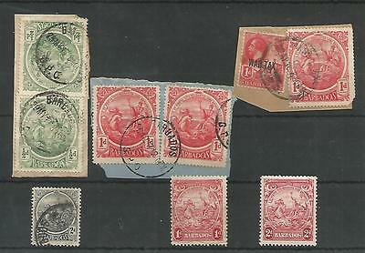 Barbados Seal Of Colony Stamps On Pieces And Unused  Ref 145