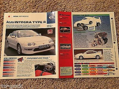 ★★ Acura Integra Type R - Collector Brochure - Spec Sheet - Photo 1997+ ★★