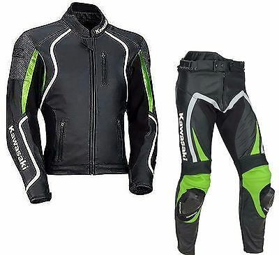Kawasaki-Motorbike/Motorcycle Leather Suit Men Racing Leather Suit Biker(Replica