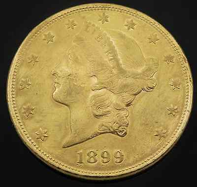 BEST OFFERS!  1899 Liberty Head $20 Gold Double Eagle Coin Selling Each Indivd