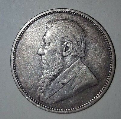 1897 south africa silver two shillings coin vintage