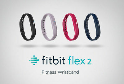 NEW Fitbit Flex 2 Fitness Wristband Activity Tracker Black Magenta Lavender Navy