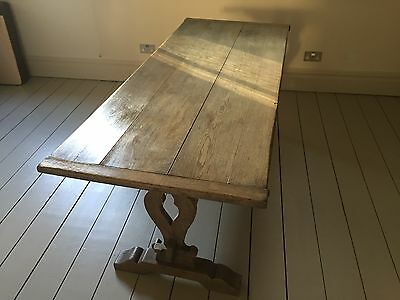 Antique oak refectory / kitchen table
