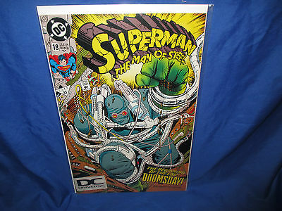 Superman The Man of Steel #18 5th Print DC Universe Logo 1st Appearance Doomsday