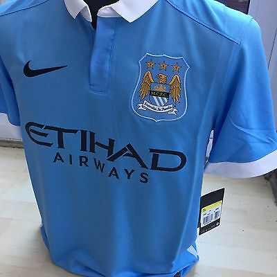 Manchester City Home Football Shirt Nike Size Small Short Sleeves Brand New