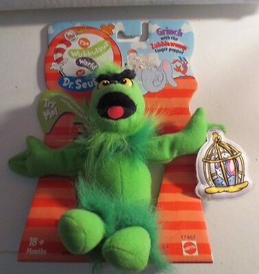 Dr. Seuss The Grinch Who Stole Christmas Finger Puppet MIP