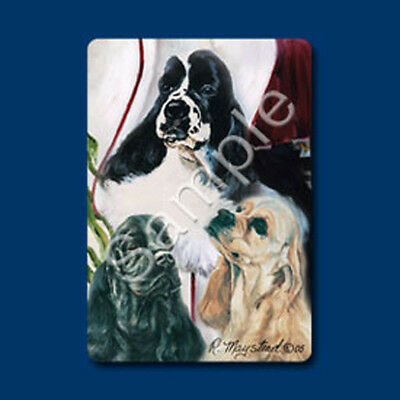 New Black Cocker Spaniel Head Study Notecard 6 Note Cards By Ruth Maystead SPC-5