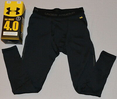 New Men's Under Armour Base 4.0 Coldgear Legging Black Fitted Hunting 1239731