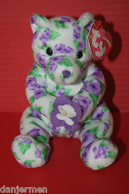 Ty Beanie Baby, Corsage the Bear. Soft cuddly toy.
