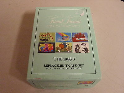 Trivial Pursuit The 1980 S  Board Game Replacement Cards