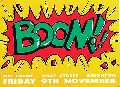 BOOM Rave Flyer Flyers A5 9/11/90 The Event Brighton