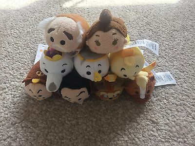 Disney Store Beauty And The Beast Tsum Full Set Tsum Tsums Complete